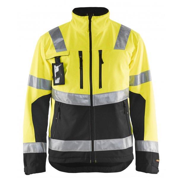 97dee8a24ad Blåkläder High Vis Softshell Jakke 4900 - Hi-Vis/Reflekstøj - SlothWear