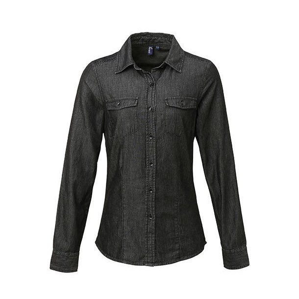 97dcf4d6c3ee Premier Workwear Denim Skjorte Dame PW322 - Skjorter - SlothWear