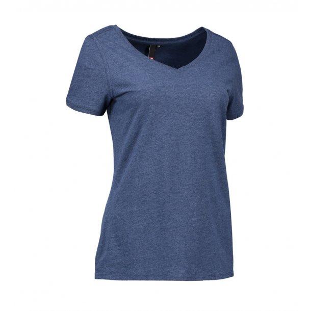 e6410e3efb9e ID T-shirt V-hals Dame 0543 - T-shirts - SlothWear