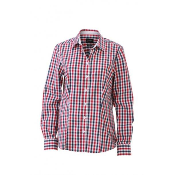 ebb0db5f James & Nicholson Skjorte Dame JN616 - Skjorter - SlothWear