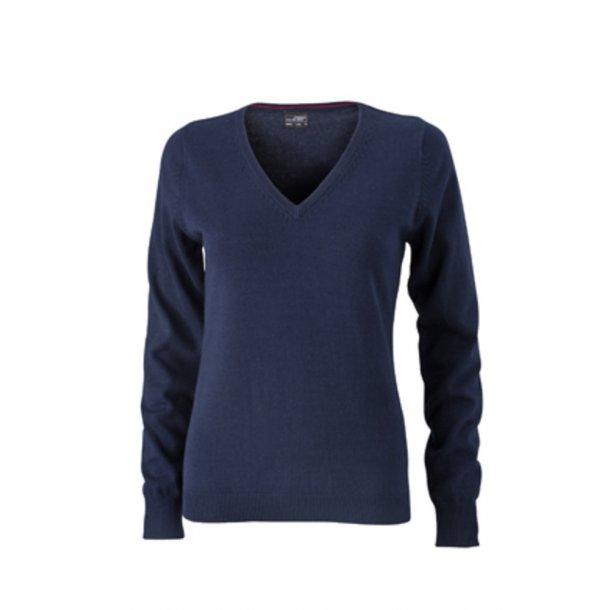 751f6316 James & Nicholson V-neck Pullover Dame JN658 - Sweatshirts ...