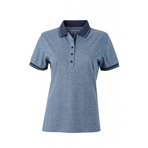 597d1744 James & Nicholson Heather Polo-shirt Dame JN705 - Polo-shirts ...