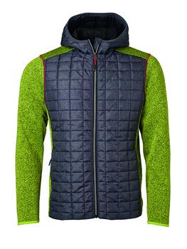 11025f59 James & Nicholson Knitted Hybrid Jakke Herre JN772 - Sweatshirts &  hættetrøjer - SlothWear