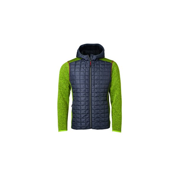 22d4ae18 James & Nicholson Knitted Hybrid Jakke Herre JN772 - Sweatshirts ...